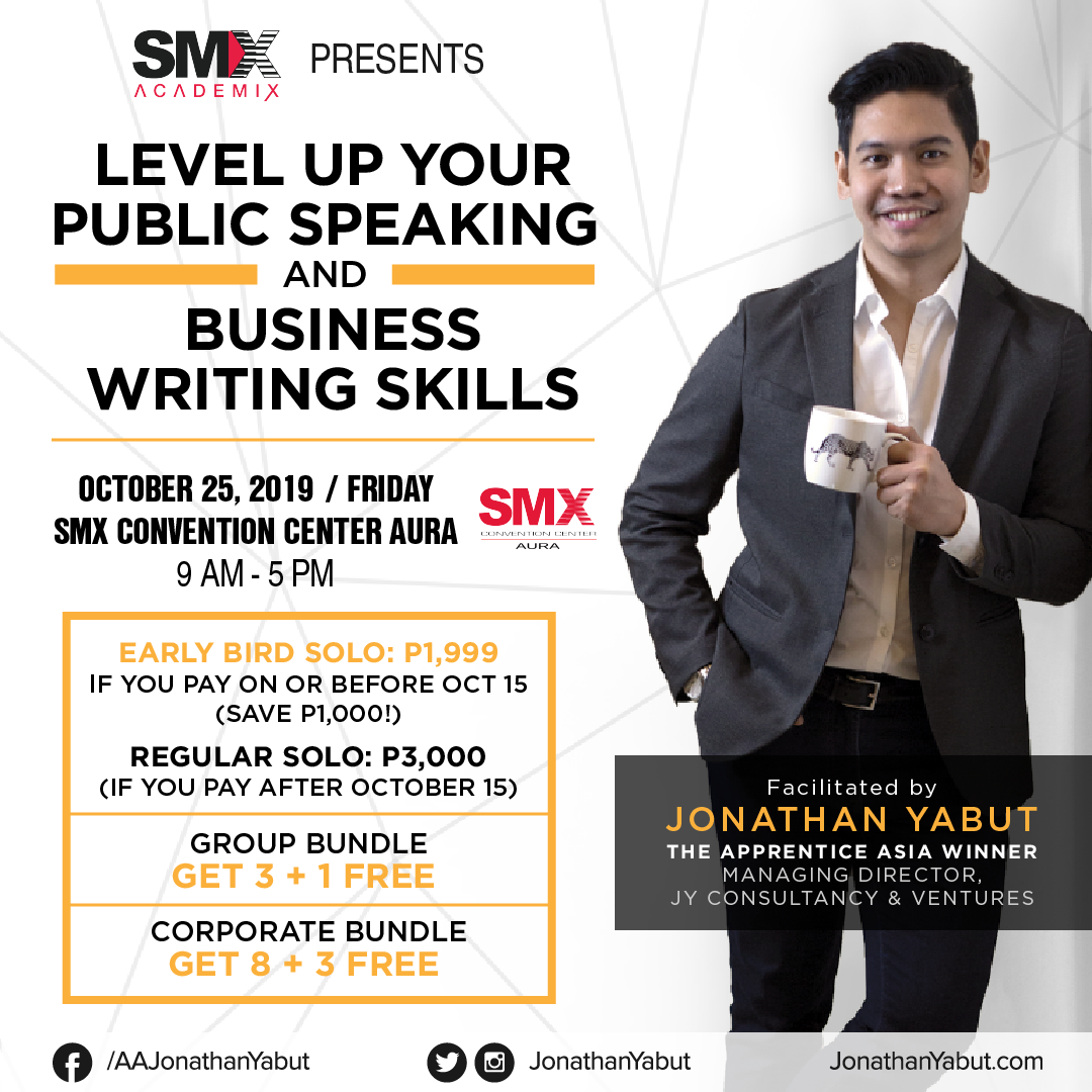 SMX AcademiX: Level up your public speaking and business writing skills